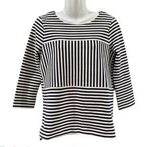 Madewell | Gallerist Ponte Striped Top Small